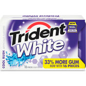 Trident® Cool Rush Sugarless Gum, 16 Pieces/Pack, 12 Packs/Box