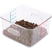 """Rubbermaid® Commercial SpaceSaver Square Containers, 4 Qt., 8 4/5""""W x 8 3/4""""D x 4 3/4""""H, Clear"""