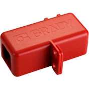 Brady® 150820 BatteryBlock Cable Lockout - Small, ABS Plastic, Red, 1/4' Cable Length