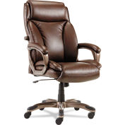 Alera® Executive Leather Chair with Coil Spring Cushioning - Leather - Brown - Veon Series