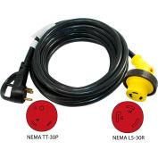 Conntek 15350-LA1, 25-Feet 30-Amp RV Straight Blade Extension Cord with NEMA TT-30P to NEMA L5-30R