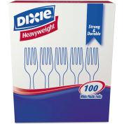 Dixie® DXEFH207, Forks, Plastic,  White, 100/Box