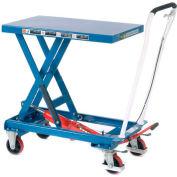 "Global Industrial™ Mobile Single Scissor Lift Table, 39"" x 20"" Platform, 1100 Lb. Cap."
