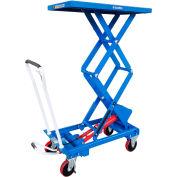 Global Industrial™ Mobile Scissor Lift Table 1100 Lb. Cap. - Double Scissor - 39 x 20 Platform
