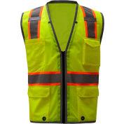 GSS Safety 1701, Class 2 Heavy Duty Safety Vest, Lime, L