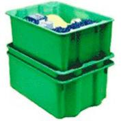 "Molded Fiberglass Nest and Stack Tote 780208 - 17-7/8"" x10""-5/8"" x 5"", Pkg Qty 10, Green - Pkg Qty 10"