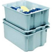 "Molded Fiberglass Toteline Nest and Stack Tote 780508 - 24-1/4"" x 14-3/4"" x 8"", Pkg Qty 10, Gray - Pkg Qty 10"