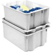 """Molded Fiberglass Nest and Stack Tote 780508 - 24-1/4"""" x 14-3/4"""" x 8"""", Pkg Qty 10, White - Pkg Qty 10"""