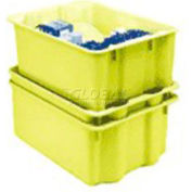 "Molded Fiberglass Nest and Stack Tote 780208 - 17-7/8"" x10""-5/8"" x 5"", Pkg Qty 10, Yellow - Pkg Qty 10"