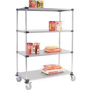 Nexel® Galvanized Shelf Truck 36x24x69 1200 Pound Capacity With Brakes
