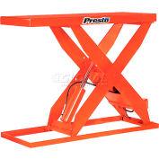 PrestoLifts™ HD Scissor Lift Table XL48-60 64x24 Hand Operated 6000 Lb.