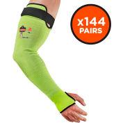 "Ergodyne® ProFlex® 7941 Hi-Vis Cut-Resistant Protective Arm Sleeve, 22"", 144 Pair, LIme"