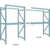 "Husky Rack & Wire Teardrop Pallet Rack Add-On With Wire Deck - 96""W x 42""D x 144""H"