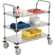 Nexel® Stainless Steel Utility Cart 3 Shelves 48x24