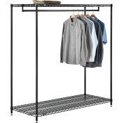 "Free Standing Clothes Rack - 2 Shelf - 60""W x 24""D x 63""H"