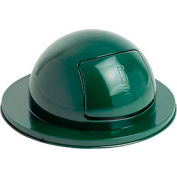 Rubbermaid® FG1855EGN Steel 55 Gallon Self-Closing Dome Drum Top - Green
