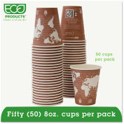 Eco-Products® World Art Renewable Resource Hot Drink Cups, 8 oz, Plum, 50/Pack