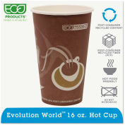 Eco-Products® Evolution World 24% PCF Hot Drink Cups, 16 oz., Purple, 1000/Carton
