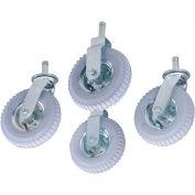 "Nexel® Stem Casters Set of (4) 8"" x 2.80"" Full Pneumatic 1000 Lb. Capacity"