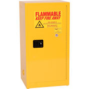 Eagle Compact Flammable Cabinet - Self Close Door 16 Gallon