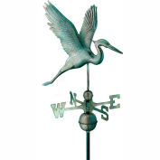 Good Directions Graceful Blue Heron Weathervane - Blue Verde Copper