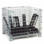 """Global Industrial™ Folding Wire Container 48""""L x 40""""W x 42-1/2""""H 4000 Lb. Capacity"""