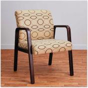Alera Reception Guest Chair - Fabric - Mahogany/Tan