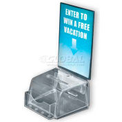 "Azar Displays 206006 Small Molded Suggestion Box W/ Pocket, 5.5"" x 3.5"", Acrylic ,1 Piece"