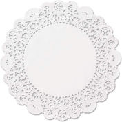 """Brooklace Lace Doilies, Round 4"""" White, 2000/Carton"""