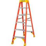 Werner 6' Dual Access Fiberglass Step Ladder 300 lb. Cap - T6206