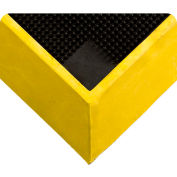 "Wearwell® Tall Wall Sanitizing Footbath Mat 2-1/2"" Thick 2-1/2' x 3-1/4' Black/Yellow Border"