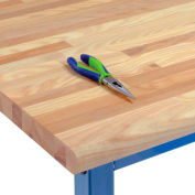 "72"" W x 36"" D x 1-3/4"" Thick Ash Safety Edge Workbench Top"