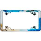 Cruiser Accessories  Boarder w/fastener caps License Plate Frame, Blue/Multi Color - 23001