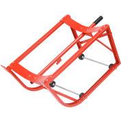 """Global Industrial™ Standard Drum Cradle - 2-1/2"""" Polyolefin Wheels - For 55 Gal. Steel Drums"""