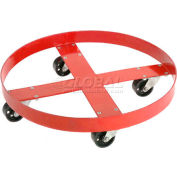 Global Industrial™ Drum Dolly for 30 Gallon Drum - Rubber Wheels 600 Lb. Capacity