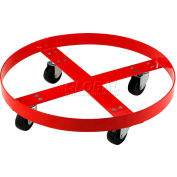 Global Industrial™ Drum Dolly for 55 Gallon Drum - Rubber Wheels 600 Lb. Capacity