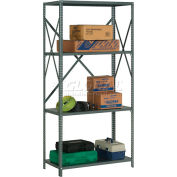 "Global Industrial™ Steel Shelving 18 Ga 48""Wx12""Dx73""H Open Clip Style 4 Shelf"