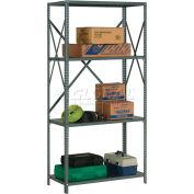 "Global Industrial™ Steel Shelving 18 Ga 48""Wx12""Dx73""H Open Clip Style 4 Shelf"