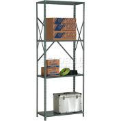 "Global Industrial™ Steel Shelving 18 Ga 48""Wx12""Dx97""H Open Clip Style 4 Shelf"