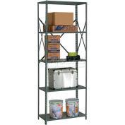 "Global Industrial™ Steel Shelving 18 Ga 48""Wx12""Dx97""H Open Clip Style 5 Shelf"