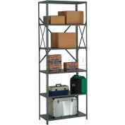 "Global Industrial™ Steel Shelving 18 Ga 48""Wx12""Dx97""H Open Clip Style 6 Shelf"