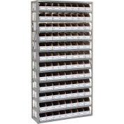 Global Industrial™ Steel Open Shelving with 96 Corrugated Shelf Bins 13 Shelves - 36x12x73