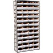 Global Industrial™ Steel Open Shelving with 48 Corrugated Shelf Bins 13 Shelves - 36x12x73