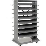 Global Industrial™ Mobile Double Sided Bin Rack Without Bins