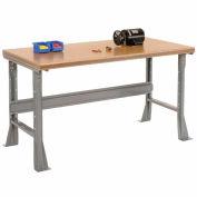 "60""W X 30""D X 34""H Shop Top Safety Edge Workbench - Gray"