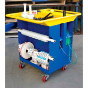 "Multi-Purpose Packaging Cart, 38-1/8""W x 28-1/8""D x 35-1/4""H, Blue"
