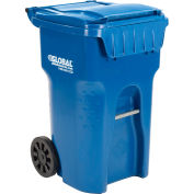Global Industrial™ Mobile Trash Container, 65 Gallon Blue