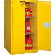 """Global™ Flammable Cabinet - 60 Gallon Manual Close Double Door - 34""""W x 34""""D x 65'H"""