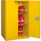 """Global Industrial™ Flammable Cabinet, 90 Gallon Manual Close Double Door, 43""""W x 34""""D x 65""""H"""