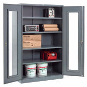 Global Industrial™ Clear View Storage Cabinet Easy Assembly 48x24x78 - Gray